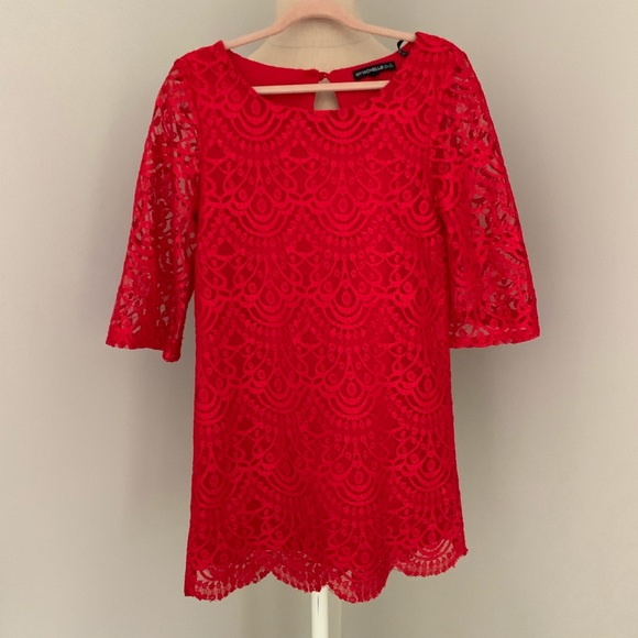 My Michelle Other - Holiday Red Lace, My Michelle Dress, 8